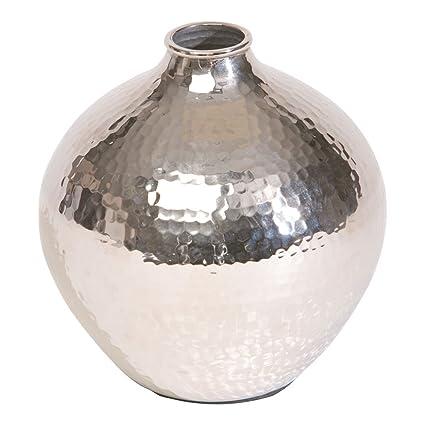 Amazon Ethan Allen Nickel Hammered Bulb Vase Home Kitchen