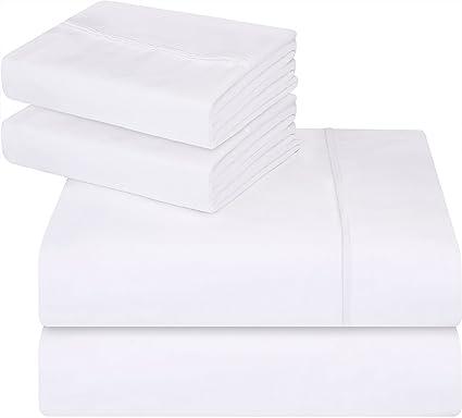 Utopia Bedding - Juego de cama de - Suave y resistente a las manchas. (Blanco, Matrimonio)
