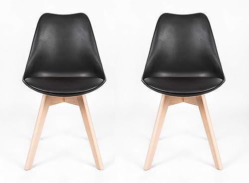 Heaven Massage Black Modern Style Mid Century DSW Chair