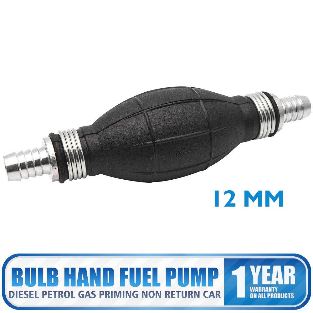 Maso 12/mm carburante primer lampadina mano pompa diesel benzina gas priming non ritorno auto nero