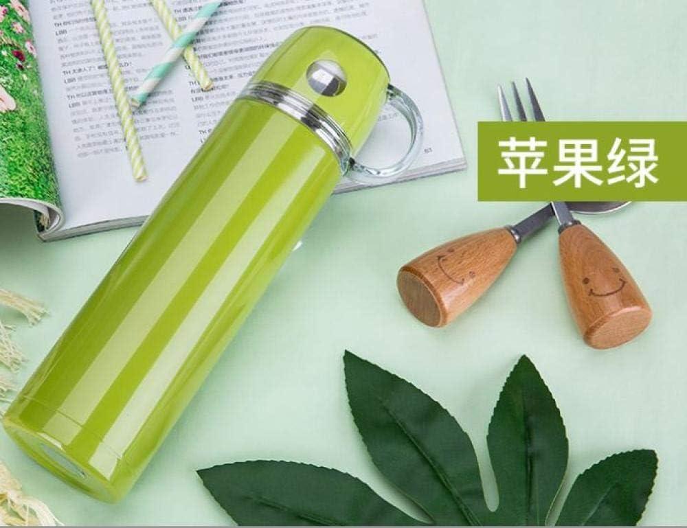 Termo de acero inoxidable al vacío personalizado con logotipo de la inscripción de la taza de regalo al vacío portátil de regalo de la taza verde manzana