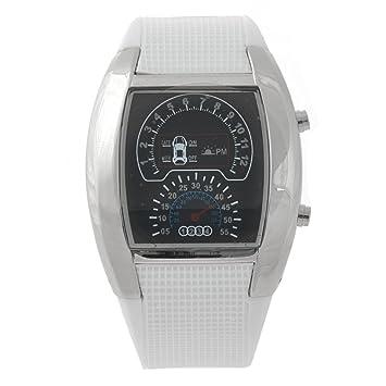 LEORX Reloj LED deportivo - coche Dashboard diseño resistente al agua reloj (blanco): Amazon.es: Bricolaje y herramientas
