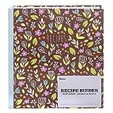 Darice 30041316 Set: Floral Theme, 46 Pieces Recipe Binder,
