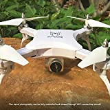 Hanbaili Upgraded S16 Folding Drone With 120°Wide Angle HD WIFI Camera Real-time Transmission,Pressure Set High 360 Degree Flips Drone with Headless Mode for Kids
