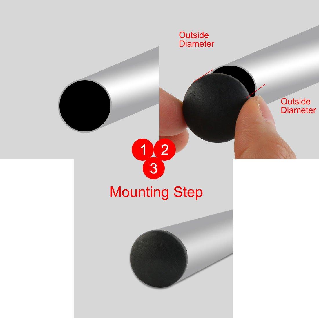 sourcingmap Stuhlbein Tischbein 22mm Durchmesser Kunststoff Rohr-Einsatz 8 St/ück Schwarz de DE de