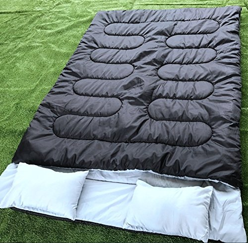 60b581896932 Mounchain 3-4 Season Double Sleeping Bag Queen Size with 2 Pillows Fits  Adults Teens, 2 Person Waterproof Damp-Proof Sleeping Bag for Camping, ...