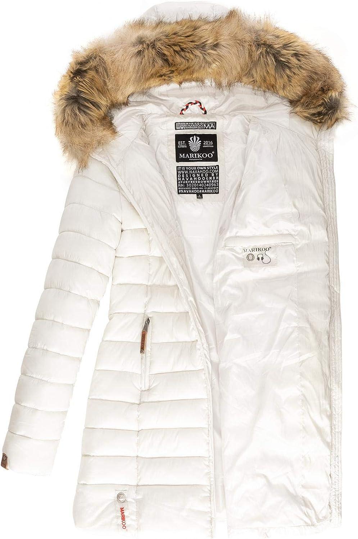 Marikoo Damen Winter-Mantel Steppmantel Rose XS-XXL