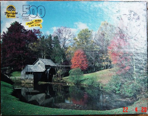 Merrigold Press 500 Piece Puzzle - Mabry Mill, Blue Ridge Parkway, Va - Mabry Mill Blue Ridge Parkway