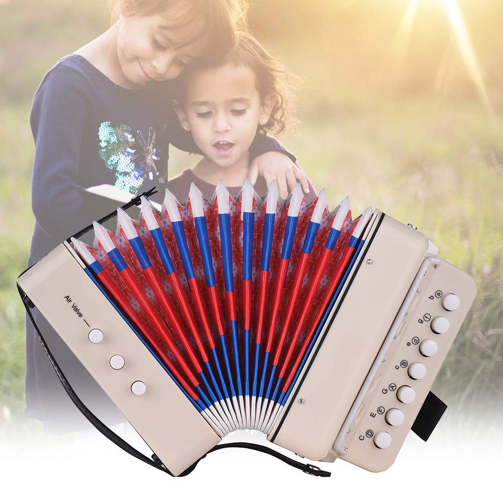 Kalaok Mini 10-Button Kids Accordion Toy Supports Bass Chords 14 Notes with Cleaning Cloth Educational Music Instrument for Children by Kalaok (Image #3)