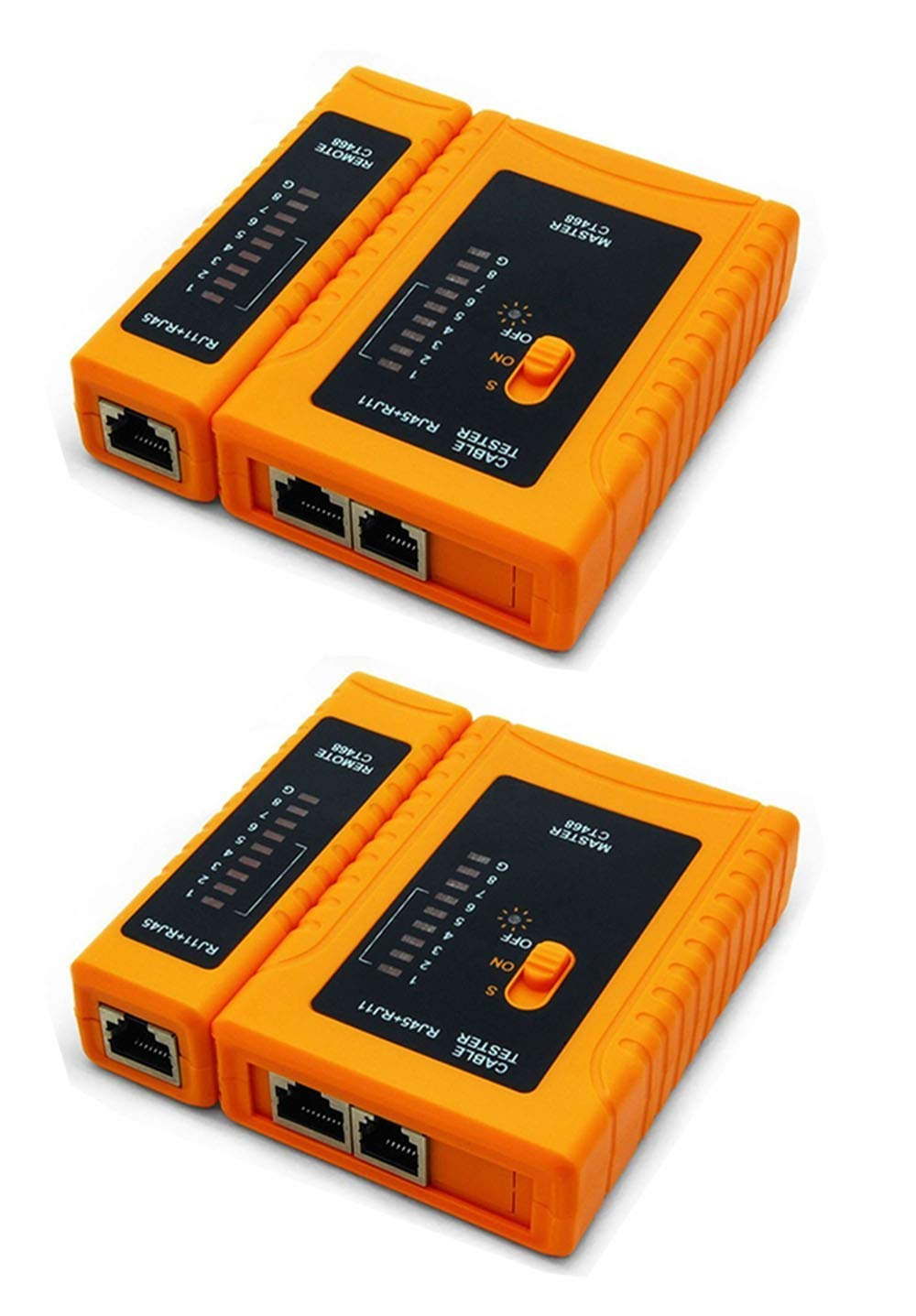 iMBAPrice (Pack of 2) RJ45/RJ11/RJ12/CAT5/CAT6/ UTP Network LAN Cable Tester Test Tool by iMBAPrice