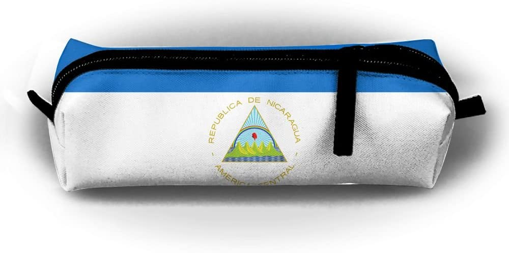 Maread Design Flag Of Nicaragua Rectangular Children Pencil-box Large Capacity Student Pen Bag Pouch School Supplies