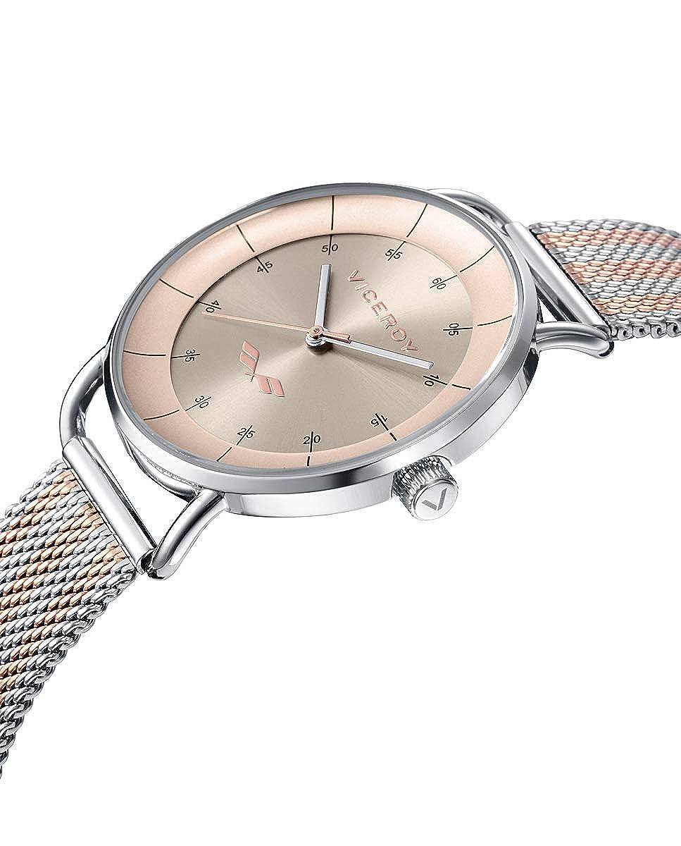Amazon.com: Viceroy Watch 42360-76 Antonio Banderas Woman Pink Steel: Watches