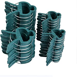 ATPWONZ 100 Piece Plant Clips,Reusable Plant Support Stake Clips,Flower and Vine Clips, Garden Tomato Peony Clips for Supporting or Straightening Plant Stems, Stalks, and Vines