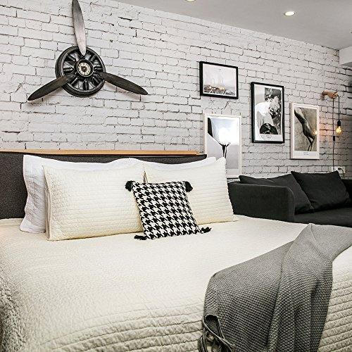 "- Elegant Life Super Soft Royal Velvet Bed Quilt Reversible Coverlet Bedspread, Queen Size(88""x92""), Ivory"