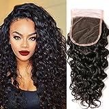 Nadula 8A Brazilian Hair Water Wave Closure Size 4'x4' Unprocessed Virgin Human Hair 1 Piece Free Part Top Front Lace Closure (12 closure)