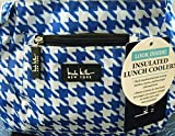 Nicole Miller of New York Insulated Lunch Cooler- Summer 2015 Colors - 11 Lunch Tote (Houndstooth Blue)