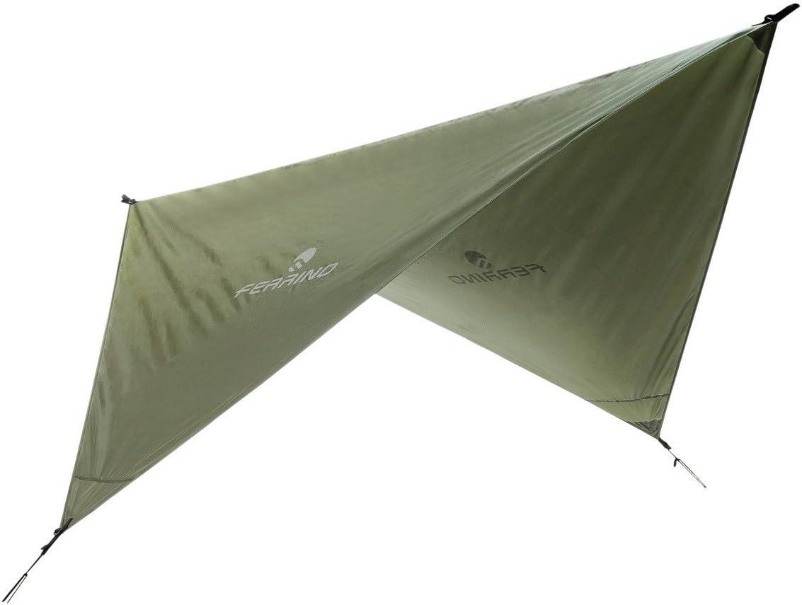 Ferrino Rain TARP 240x240 cm Accesorios Montañismo, Alpinismo y Trekking, Adultos Unisex, Verde (Olive Green, Talla Única