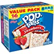 Kellogg's Pop-Tarts Frosted Toaster Pastries, Frosted Strawberry, 16 Count