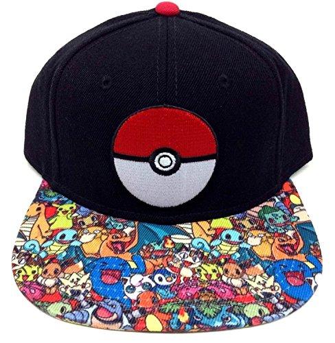Licencia-de-oficial-Nintendo-Pokmon-Poke-sublimada-Bill-Snapback-gorra
