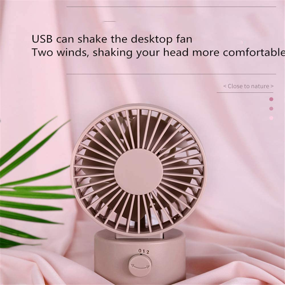 Four Colors Optional Mini Silent Fan USB Desktop Moving Head ZhongYi Electric Fan