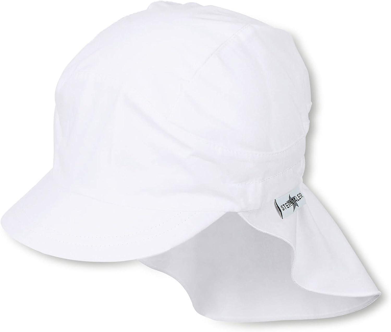 Sterntaler Baby-Jungen Schirmm/ütze mit Nackenschutz Hat