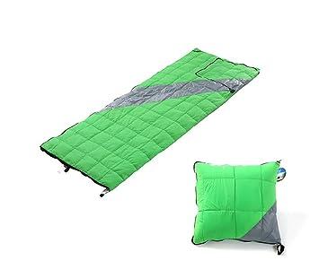 RFVBNM Al aire libre abajo saco de dormir ultraligero blanco pato abajo almohada adultos sobre saco de dormir camping, verde: Amazon.es: Deportes y aire ...