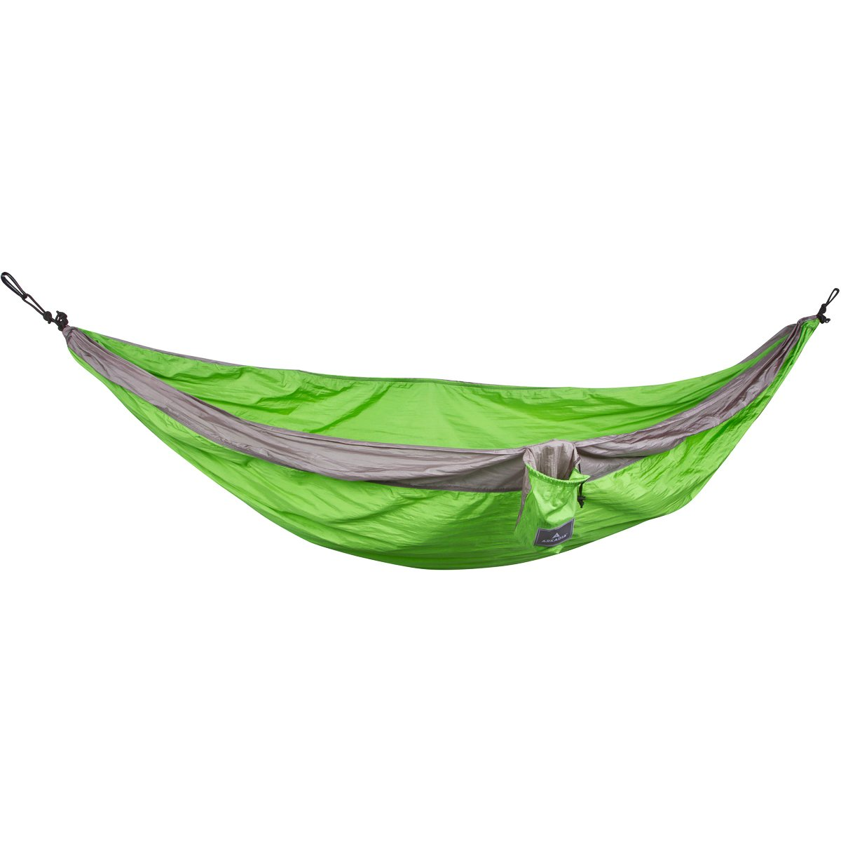 Double Parachute Camping Hammock by Arkadia Lightweight Nylon, Packable, Great for Travel with free Carabiners and Starter Straps