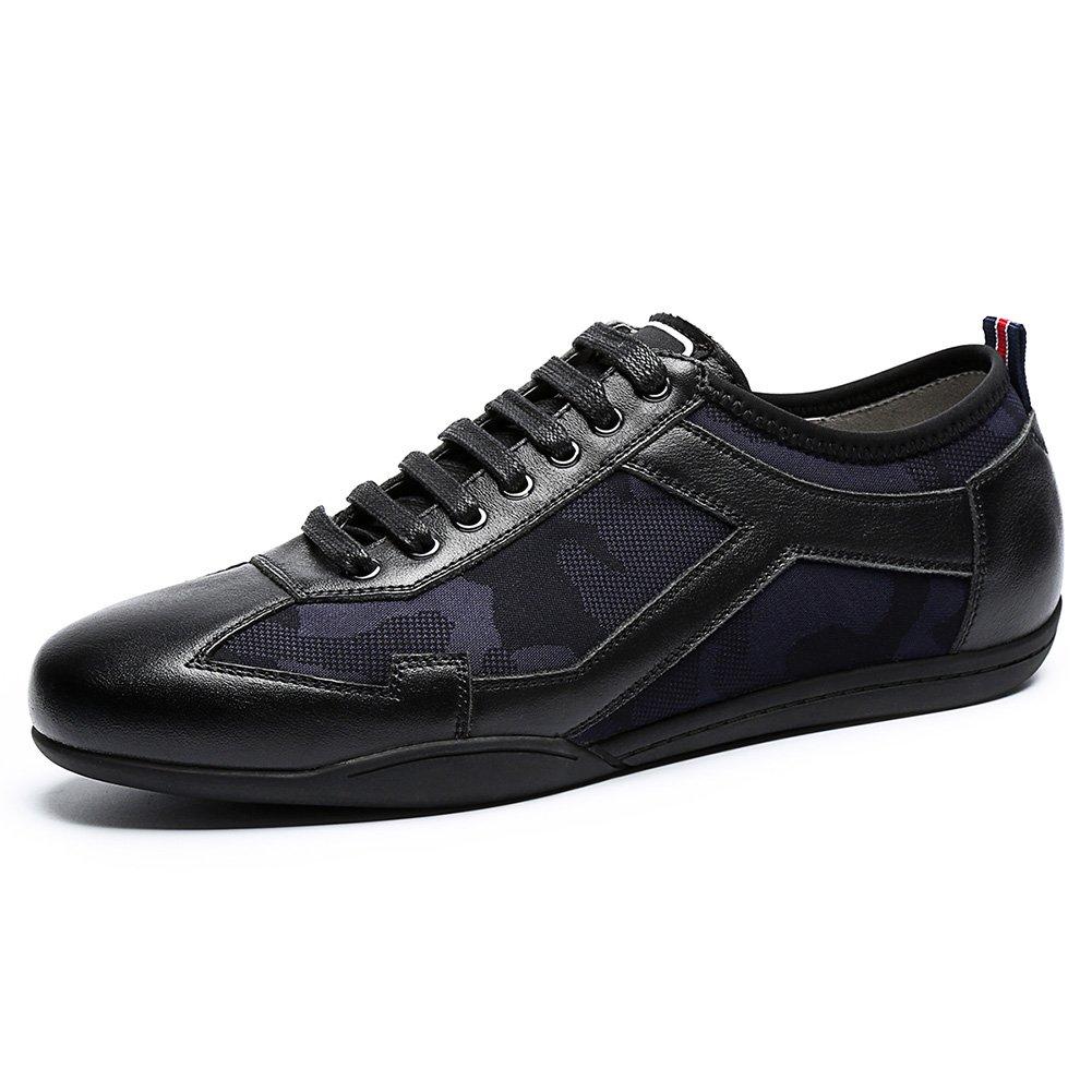 YIXINY Deporte Zapato 1177102 La Moda De Primavera Ligera Deportes Respirables Y Zapatos De Los Hombres De Ocio ( Color : Negro , Tamaño : EU41/UK7.5-8/CN42 ) EU41/UK7.5-8/CN42|Negro