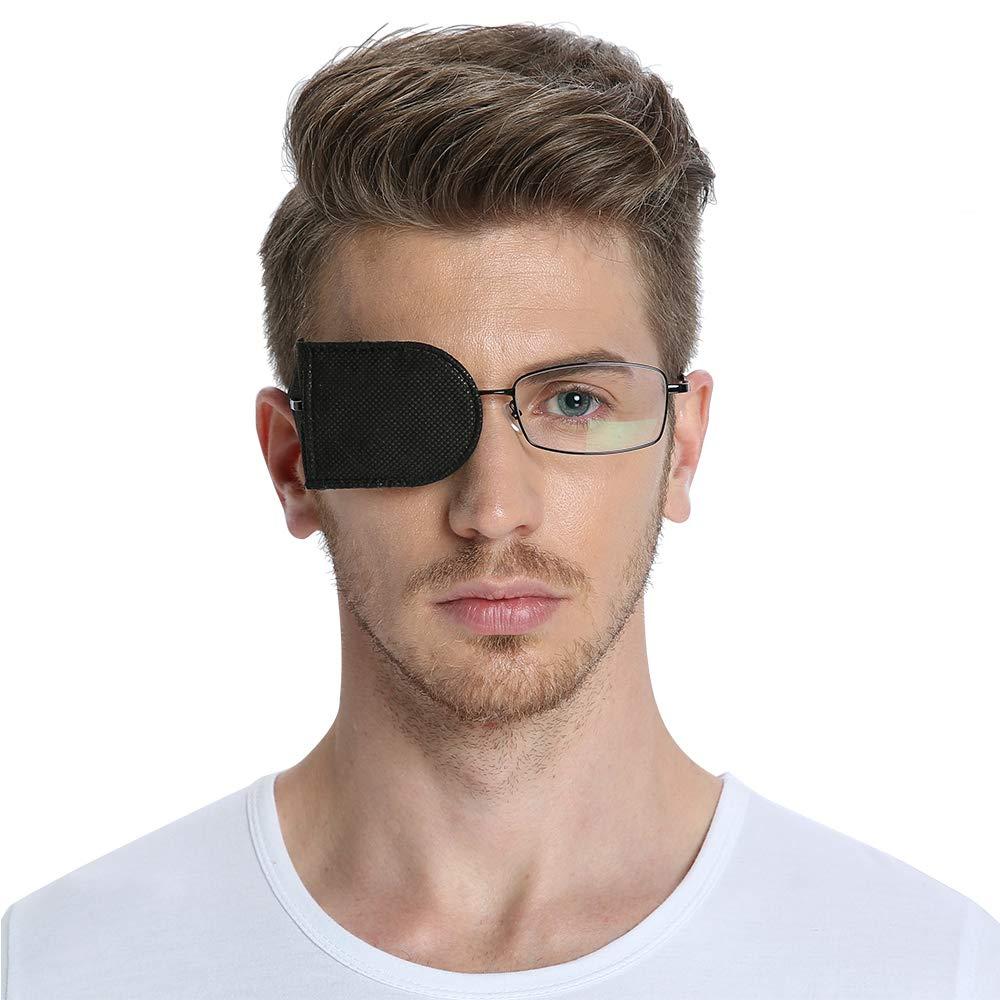 FCAROLYN 6pcs Eye Patch for Glasses to Treat Lazy Eye/Amblyopia/Strabismus (Black)
