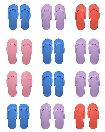 f56043e8b551 Amazon.com   Hysagtek 12 Pairs Shower Sand Pedicure Beach Light Weight Foam Flip  Flops