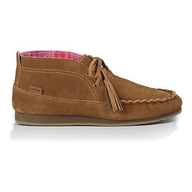 Sanuk Women's Moccodile Chestnut Sneaker 7 B ...