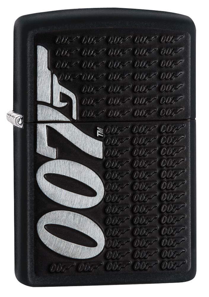 Zippo James Bond Black Matte Pocket Lighter
