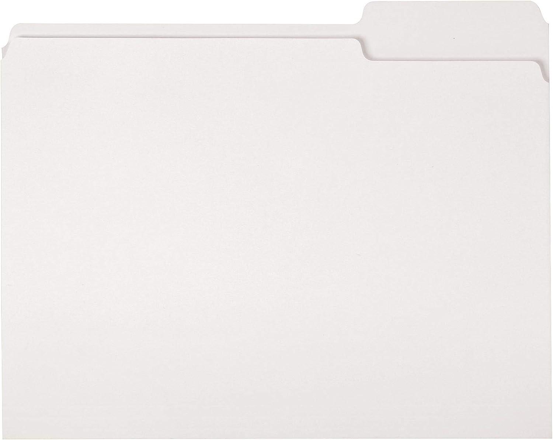 AmazonBasics File Folders, Letter Size, 1/3 Cut Tab, White, 36-Pack