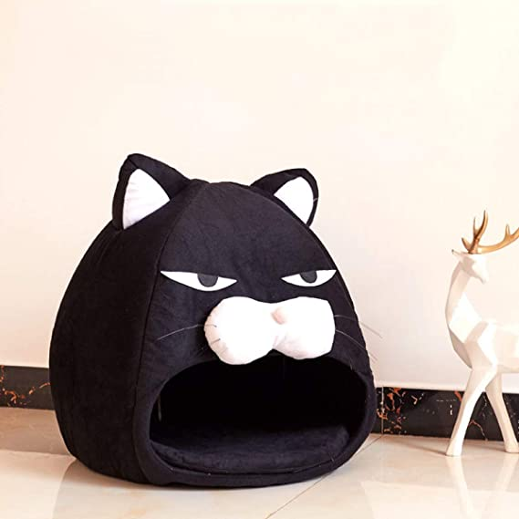Amazon.com : WEEKEND SHOP Dog Bed cat Bed Head Shape Creative Dog Cat Bed Pet Bed Cute House Warm Soft Dogs Kennel Dog House Pet Sleeping Bag Cat Bed Cat ...