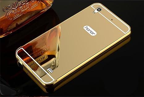low cost fresh styles top brands PANXIYUE Coque Huawei Ascend G620S / Honor 4 Play Aluminium Miroir Coloris  Or Etui Housse Bumper