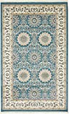 Nain Collection Persian Isfahan Design Traditional Area Rug (5′ x 8′ FT) Blue Living & Dinning room Décor Review