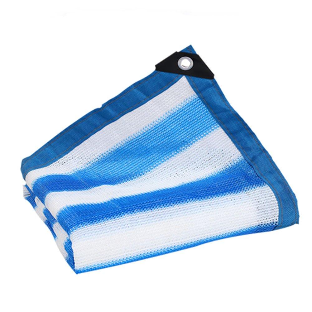LIANGLIANG Rete Parasole Serre Antivento Paralume Pioggia Leggera Rete Traspirante Traspirante Inodore Polietilene, 24 Taglie (colore   blu bianca, Dimensioni   8x8m)