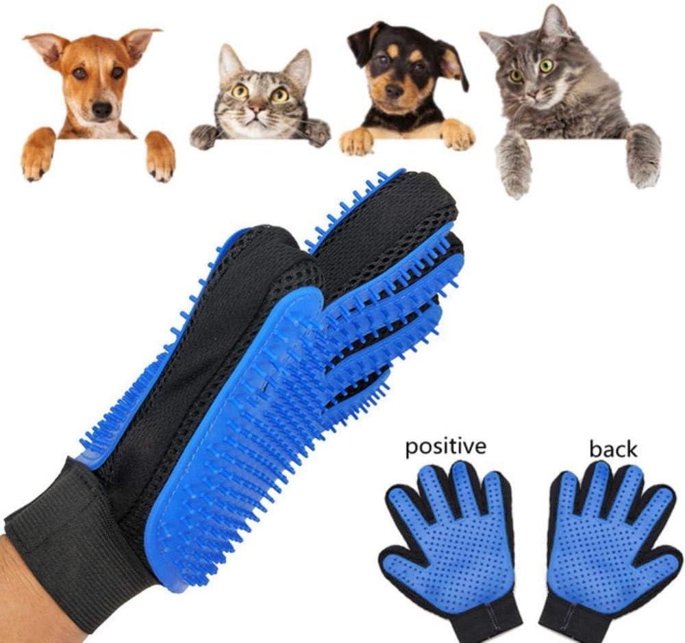 Juguete Para Perros Guante Para Mascotas De Doble Cara Gato Para Perros Cepillo Para Peinar Cepillo Peine Masaje De Limpieza Herramientas Para Deshuesar El Cabello De Las Mascotas Para Perros Gatos G: