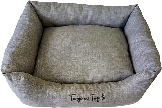 Tango and Tequila Cama para Perros medianos, sofá para Perro, Alfombrilla para Perro, con cojín Reversible y Extraible. Fabricada en españa, Resistente a mordiscos: Amazon.es: Productos para mascotas