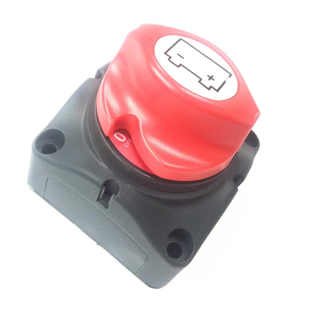 Qiorange Battery Isolator Switch 12V//24V//48V Removable Knob Battery Power Cut Off Switch Battery Disconnect Switch for Car Truck Boat Van Automotive Electronics Electrical Products D Type 1pcs
