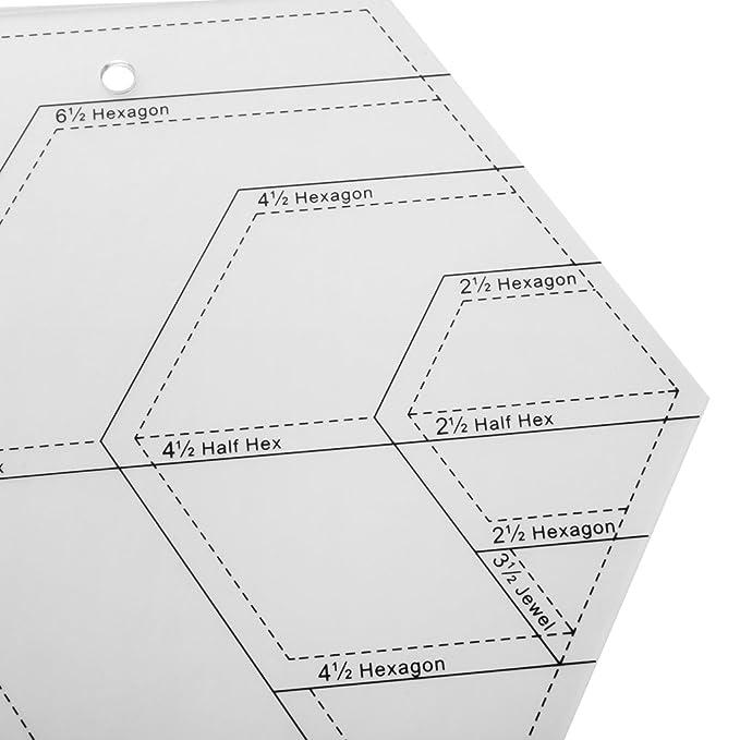 Homyl Diamant-Form Quilting Schablone Steppschablone Vorlagen Lineal ...