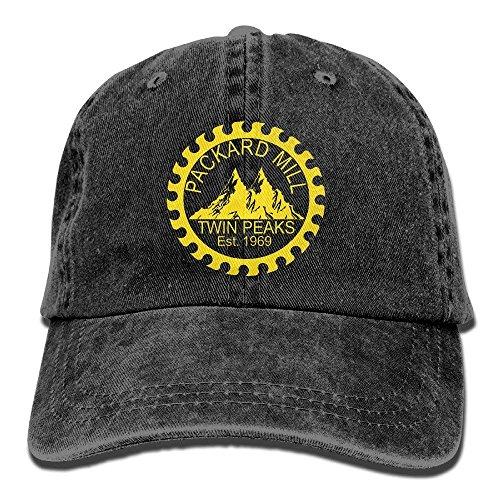 (Twin Peaks Packard Mill Unisex Adult Adjustable Denim Dad Cap)