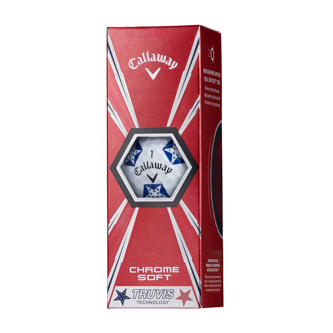 Callaway Golf Chrome Soft Truvis Golf Balls, (One Dozen), Stars and Stripes (Limited Edition) by Callaway (Image #4)