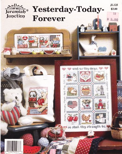 Yesterday-Today-Forever (counted cross stitch or needlepoint message: