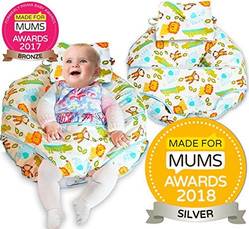 Unique 4 in 1 Premium Cotton Nursing Pillow with Free Mini Pillow and Baby...