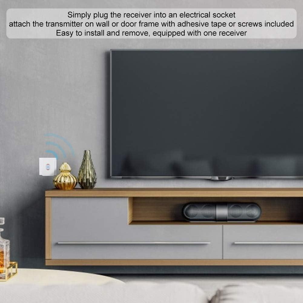 Zyyini Timbre de inducción, 110-260V Cinco Niveles de Volumen Tonos de Llamada Bricolaje Luz Nocturna de Flash con Timbre de batería inalámbrico, Adecuado para protección del hogar Home (#1): Amazon.es: Hogar