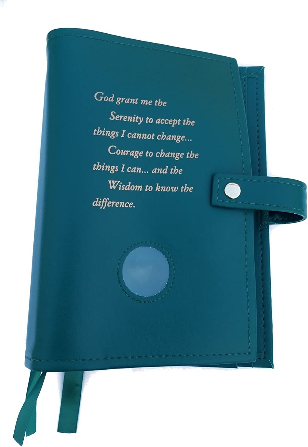 6th Ed It Works How and Why and Living Clean with Serenity Prayer and Medallion Holder. Green Deluxe Triple NA Book Cover for The Basic Text
