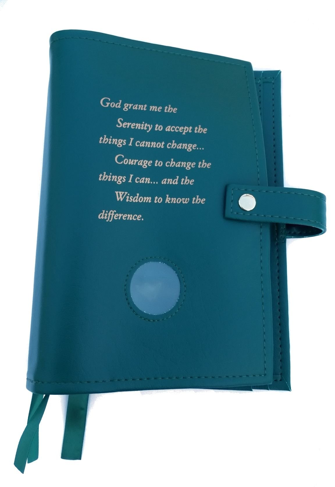 Green DELUXE Triple NA Book Cover for the Basic Text (6th Ed), It Works, How and Why and Living Clean with Serenity Prayer and Medallion Holder. by Culver Enterprises