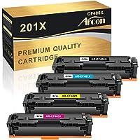 Arcon Compatible Toner Cartridge Replacement for HP 201X 201A CF400X CF401X CF402X CF403X CF400A HP Color Laserjet Pro…