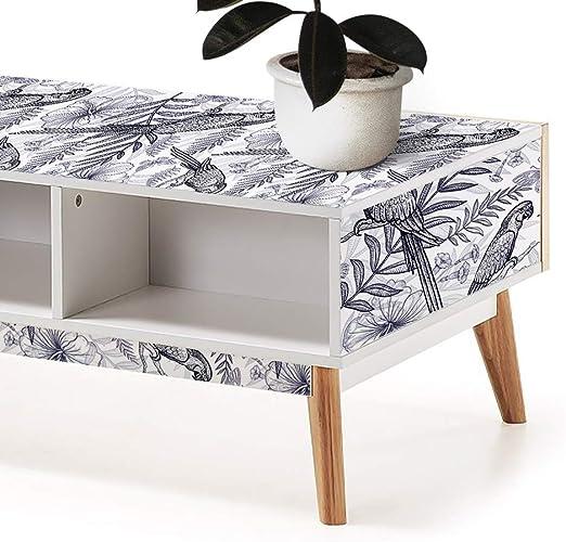 Vinilos para Muebles con Diseño de Loros, Papel Adhesivo para ...